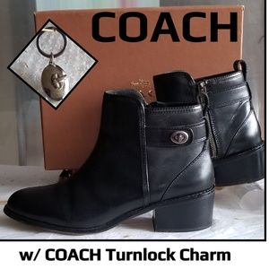 Coach  Boots & Turn Key Charm